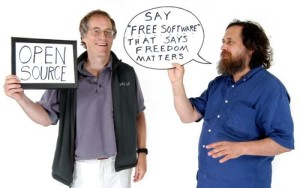 Richard Stallman, image sur le blogue : innovate.ucsb.edu/
