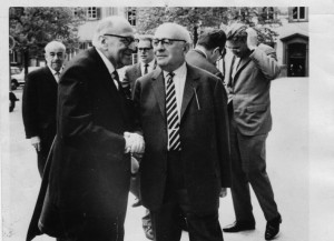 Horkheimer et Adorno, photo de Jeremy Shapiro